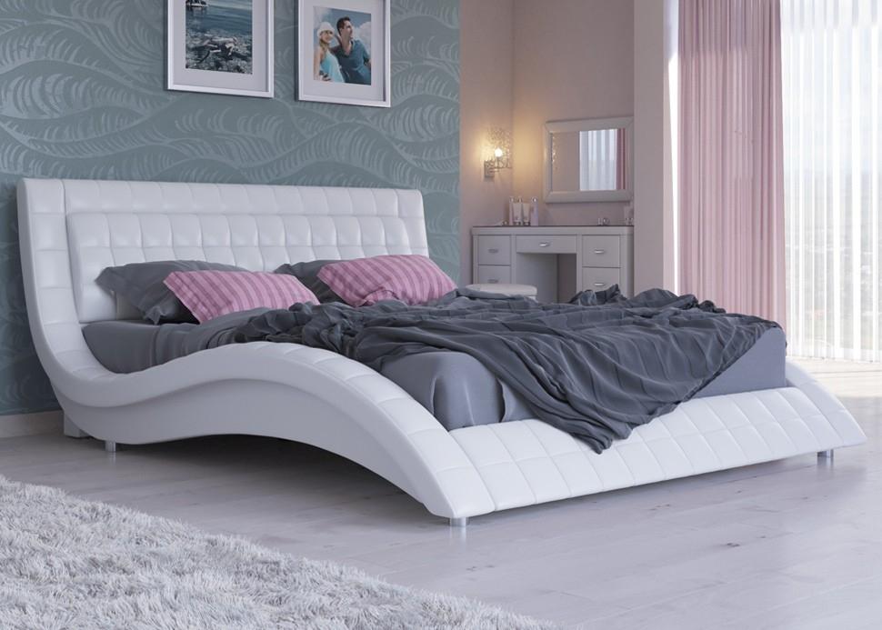 Кровать из экокожи  со скидкой