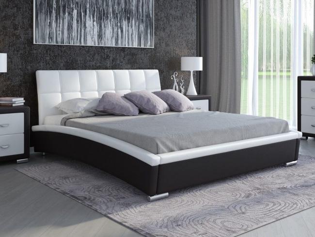 кровать Corso 1 корсо 1 двуспальная кровать с мягким изголовьем